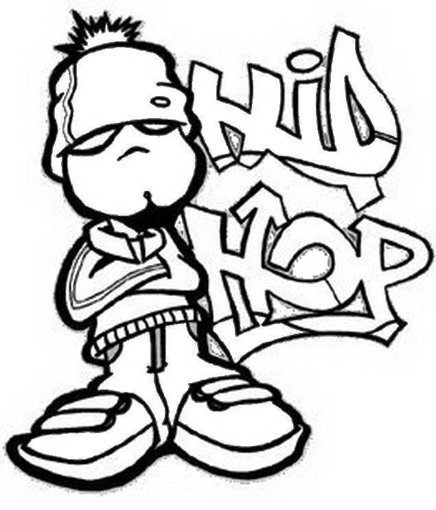 Imagen para dibujar de Hip Hop
