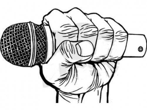 Wallpaper de microfono Rap para dibujar
