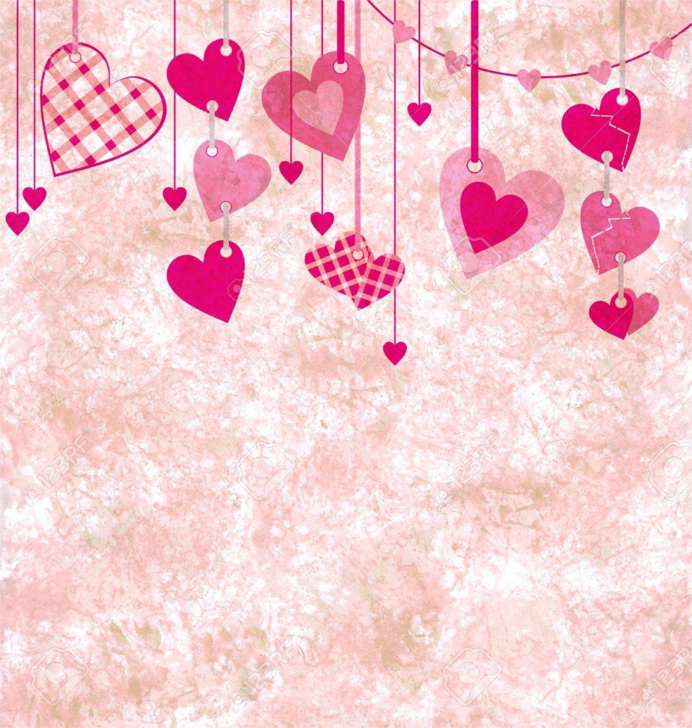 fondos de pantalla corazones rosas