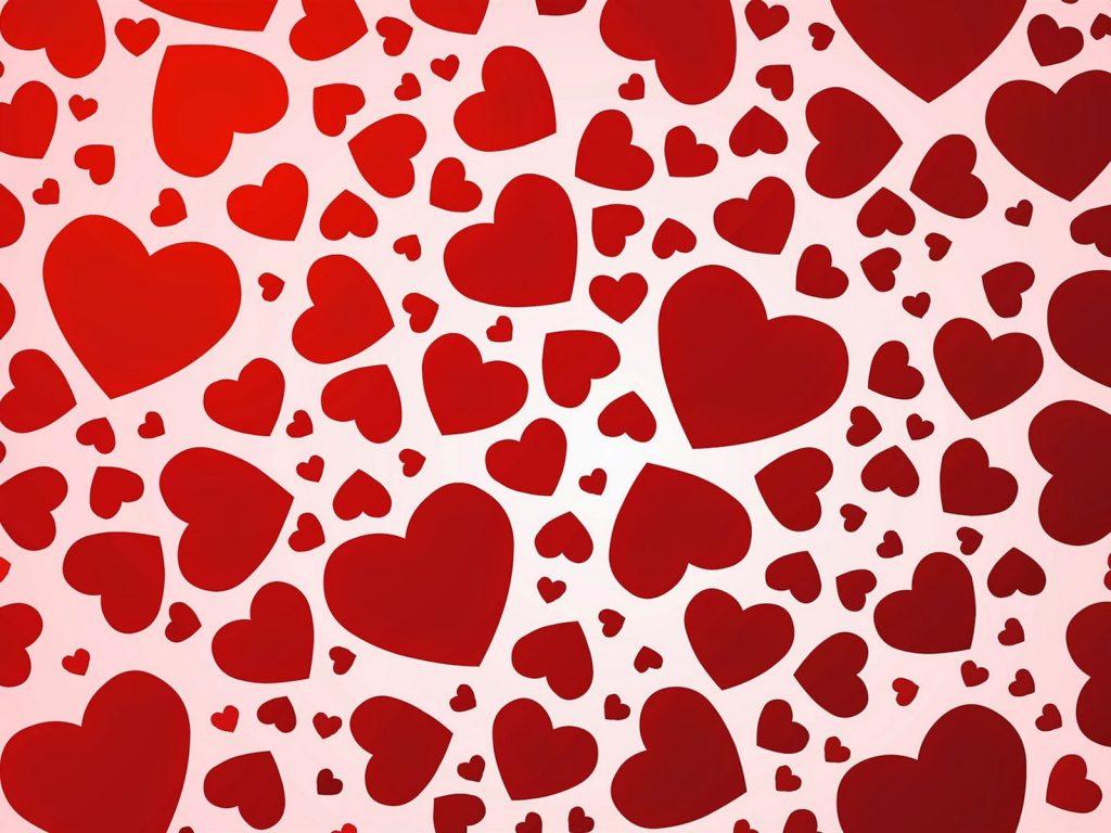 fondo corazones rojos vector