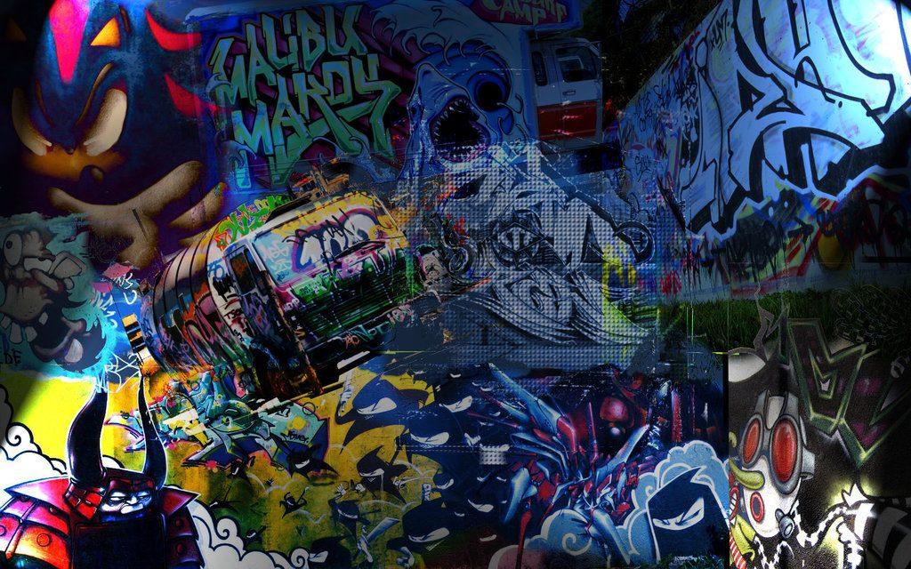 Fondos de graffitis 3D