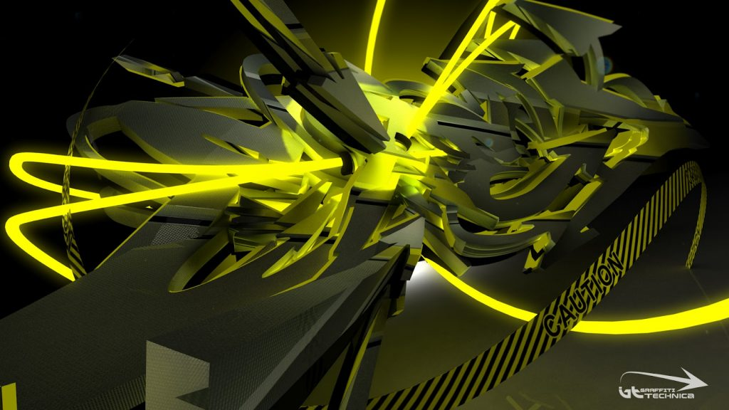 Fondos de pantalla de graffitis 3D