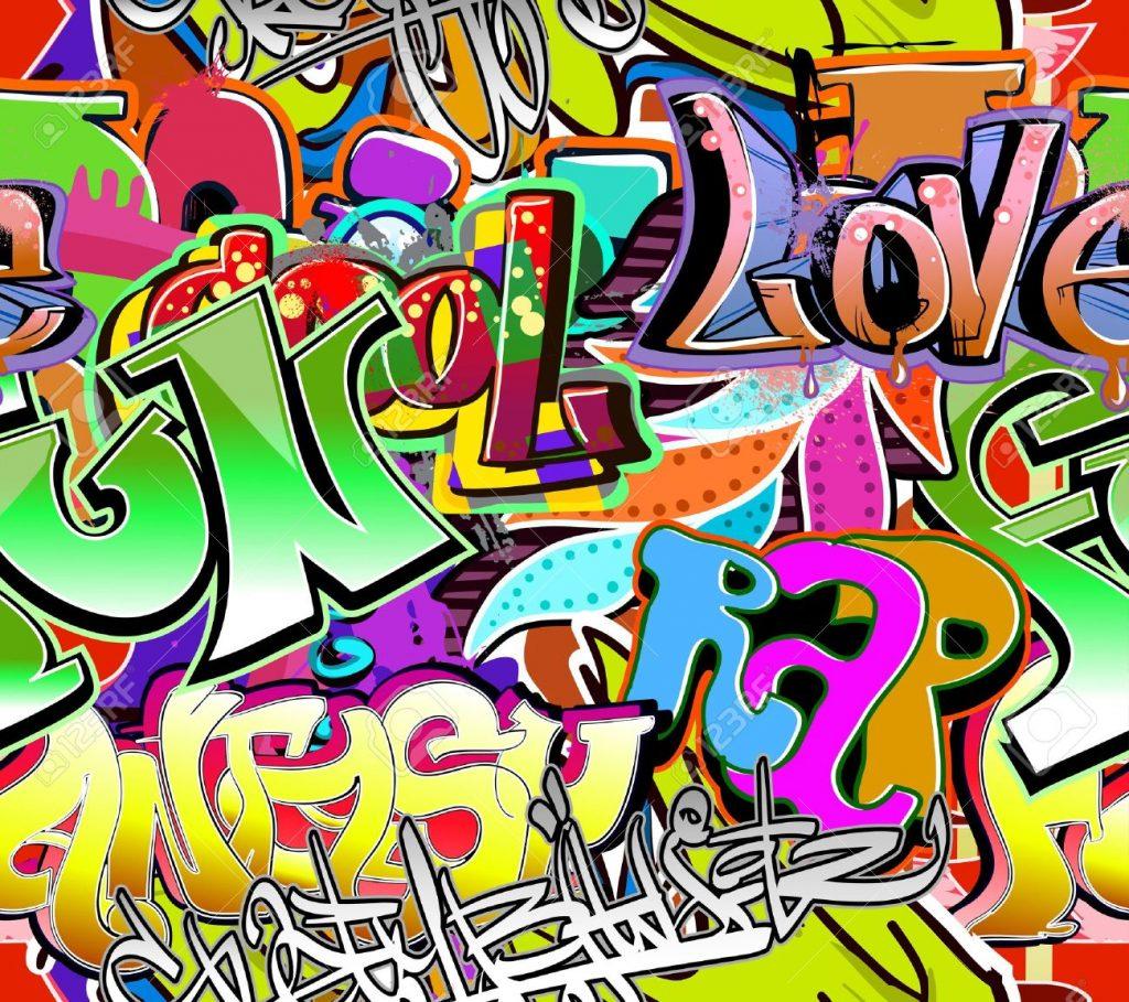 Fondos de graffitis nombre