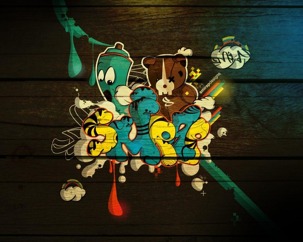 Fondos graffitis 3D