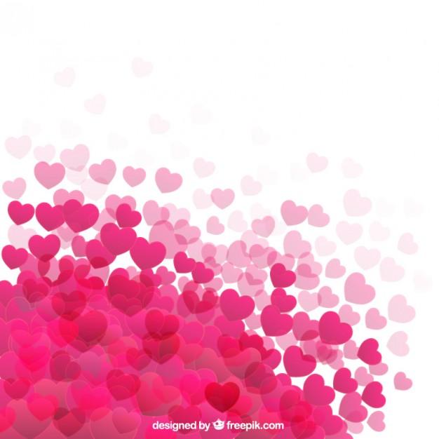 fondo rosa corazones blancos