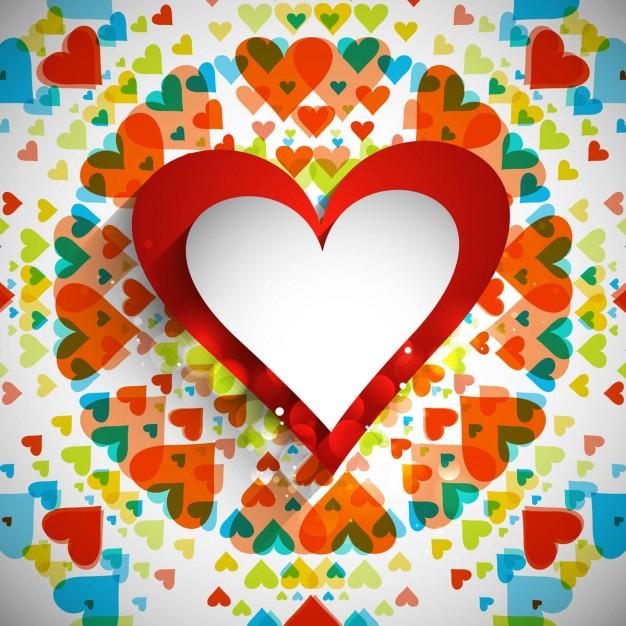 fondos de corazones de colores vivos