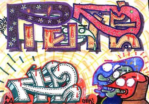 Fondos de graffitissencillos