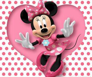 Wallpaper minnie rosa