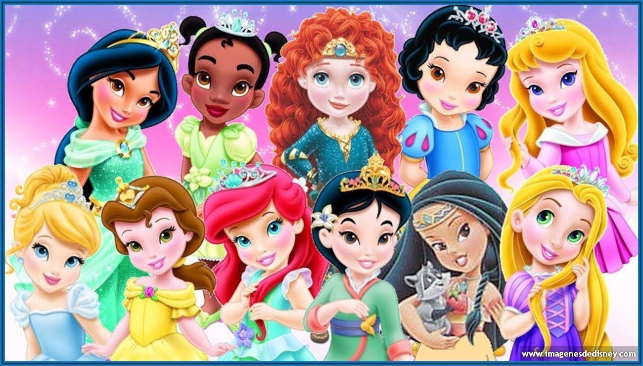 Fondo de princesas en pequeñas