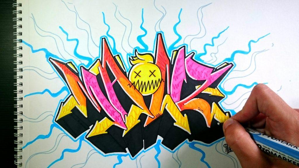 fondos de graffitis 3d a lapiz chidos