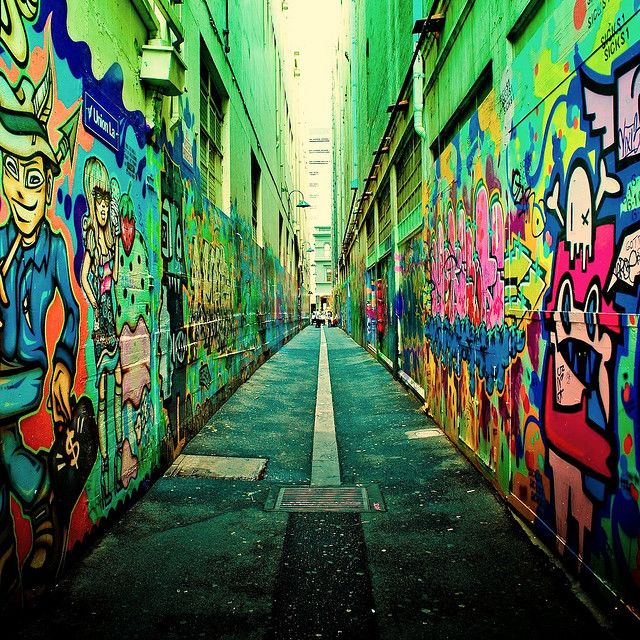 fondos de graffitis en 3d callejeros