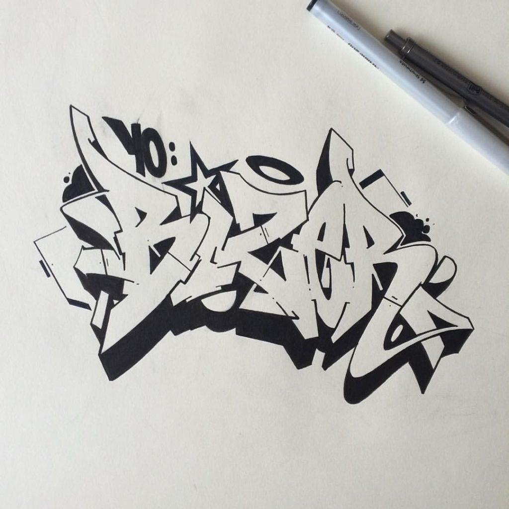 fondos de graffitis 3d a lapiz faciles de hacer