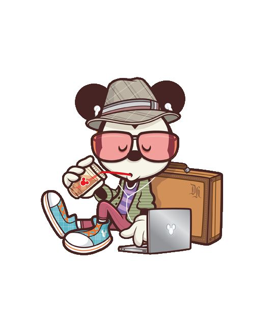 mickey hipster png