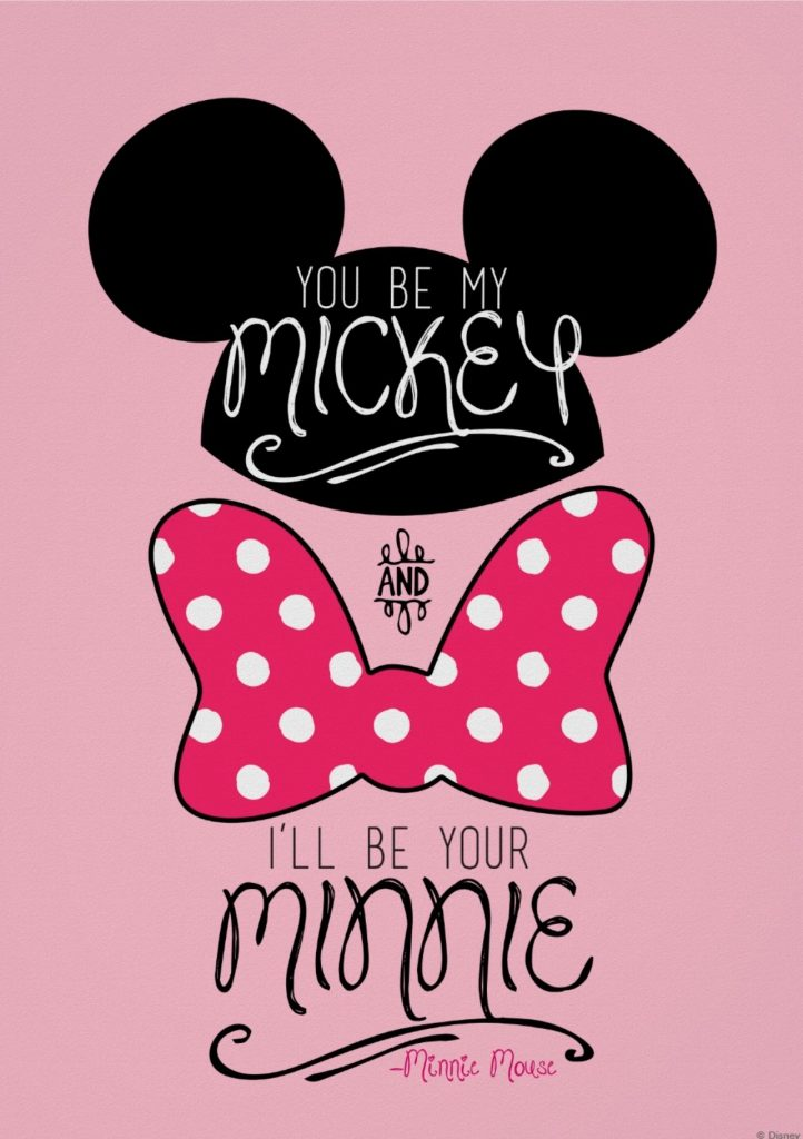 minnie y mickey besandose wallpaper