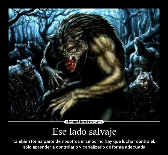 imagenes de hombres lobo con frases
