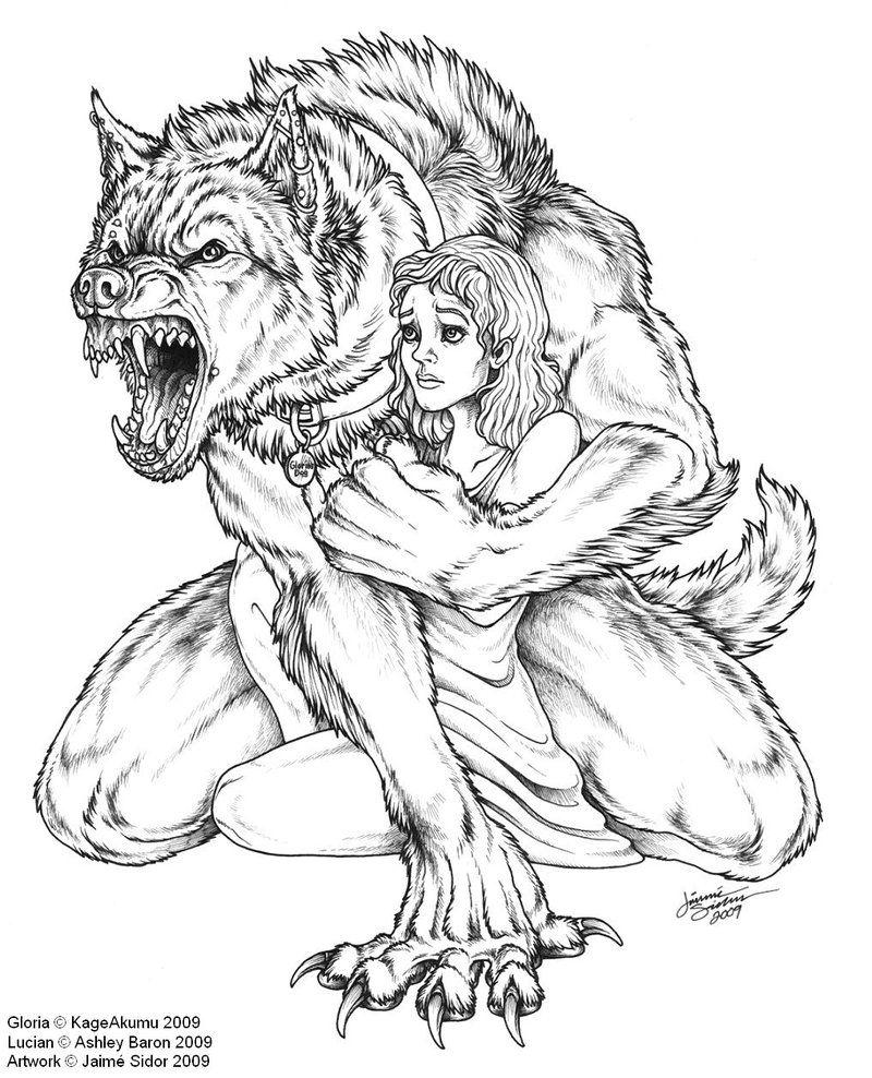 fotos de hombres lobos para dibujar