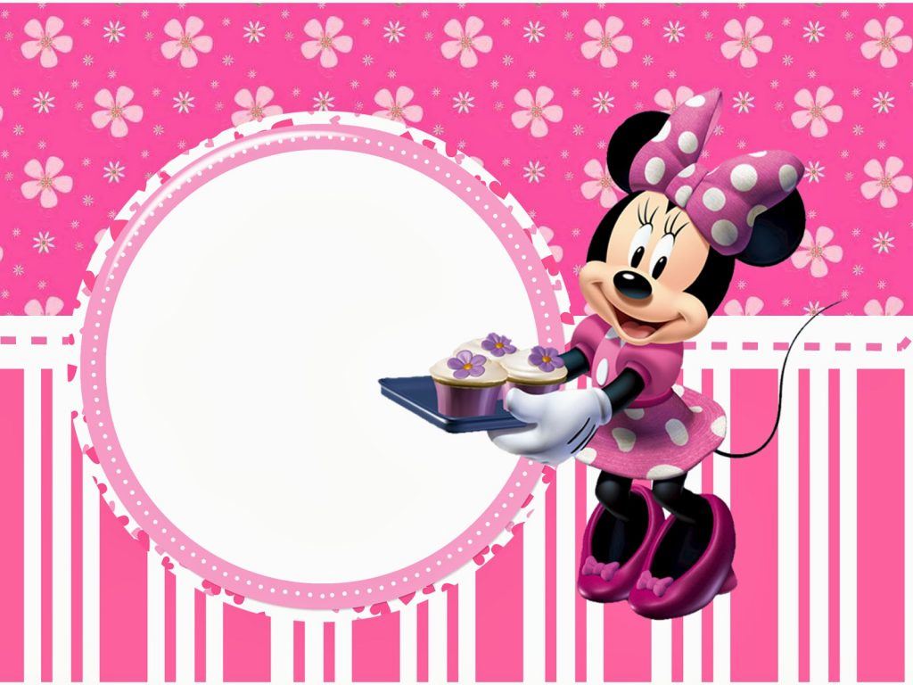 Wallpaper minnie rosa