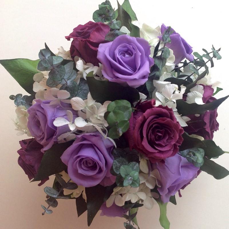 imagenes de rosas moradas y azules