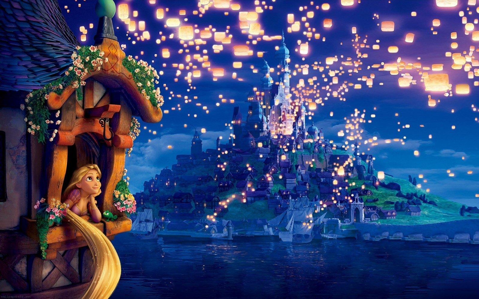 fondo de Rapunzel en el castillo