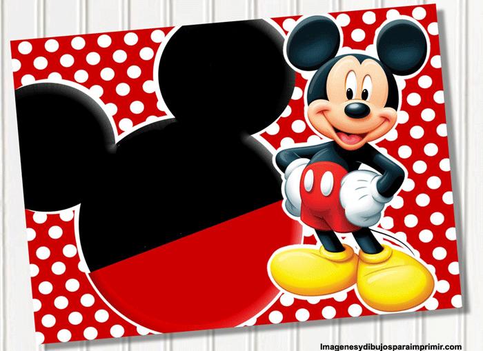 crear invitaciones de mickey mouse