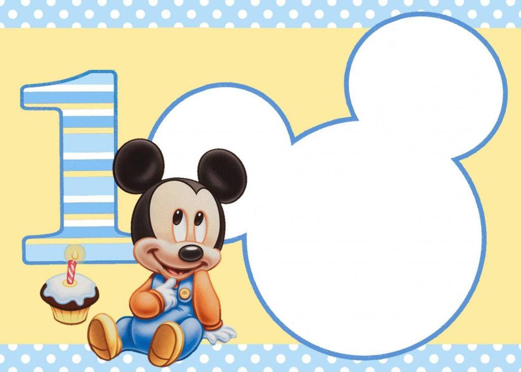 invitaciones de cumpleaños de mickey mouse bebe para editar