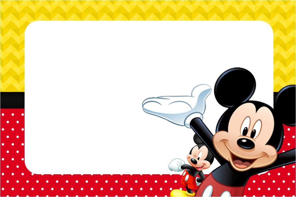 invitaciones de mickey mouse bebe para editar e imprimir gratis