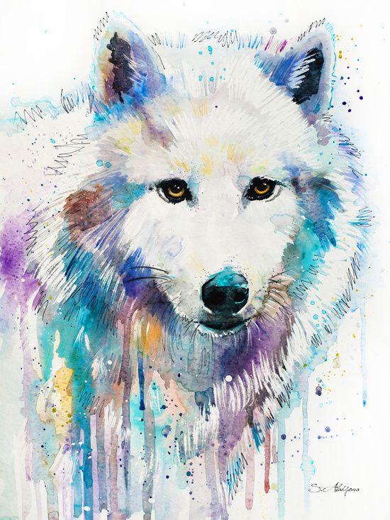 caras de lobos para dibujar