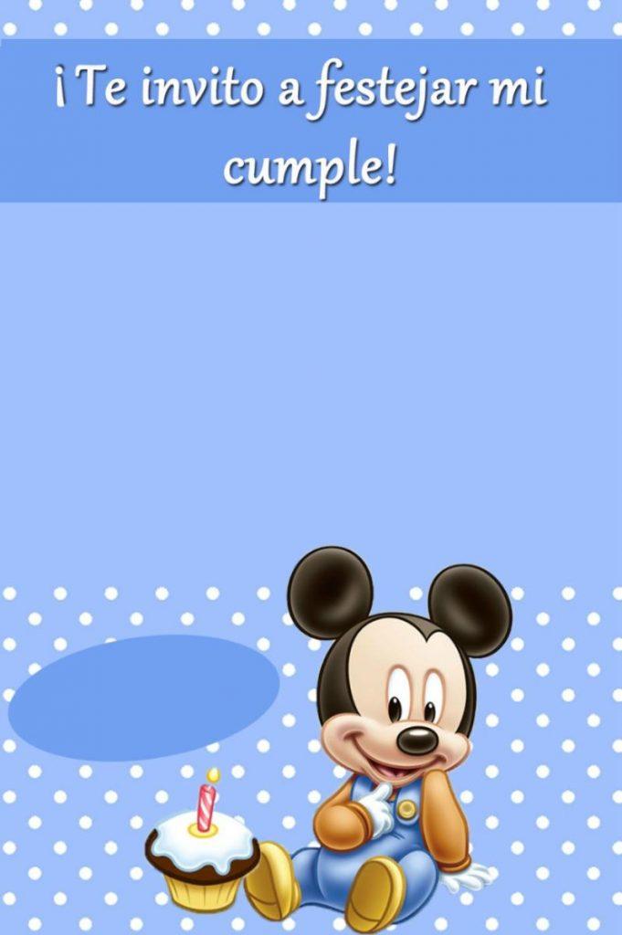 hacer invitaciones de mickey mouse en linea