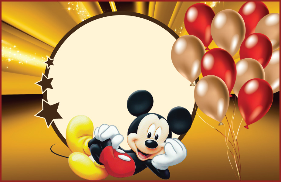 descargar invitaciones de mickey mouse gratis
