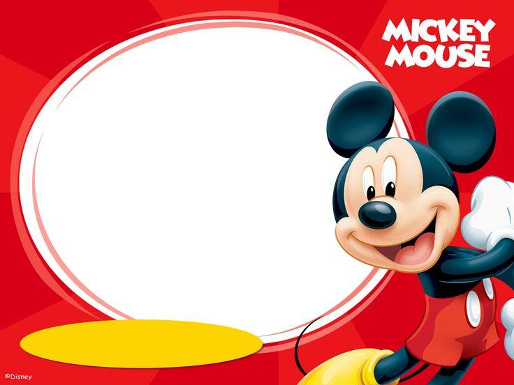 invitaciones de mickey mouse para editar e imprimir gratis