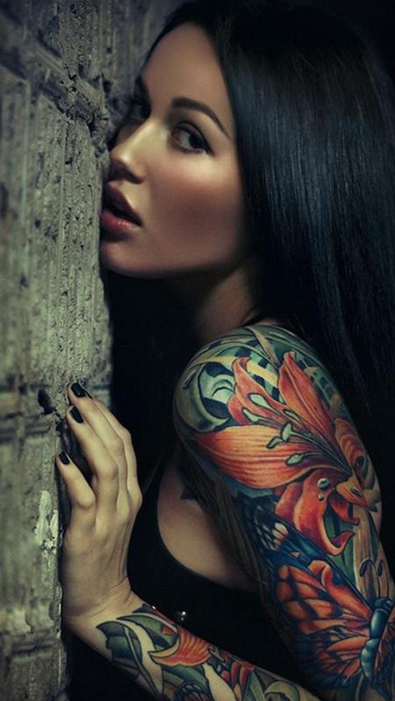 tattoo girl wallpaper hd iphone