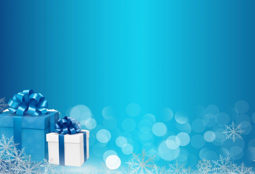 fondos navideños color azul