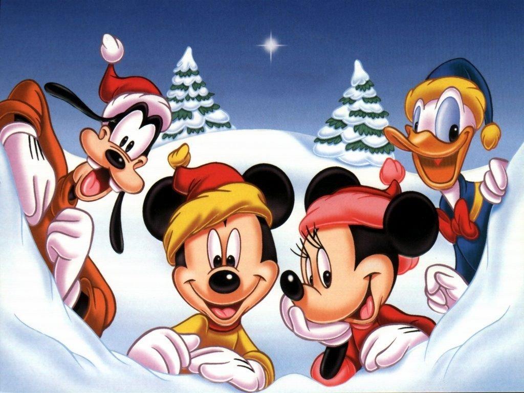 fondos de caricaturas de disney navideñas