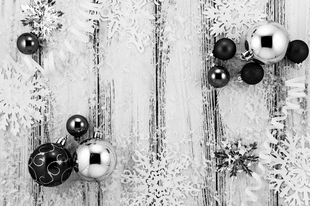 fondos navideños blanco y negro