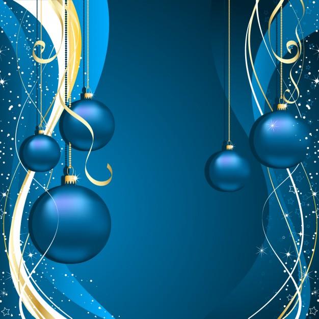 fondos de navidad color azul