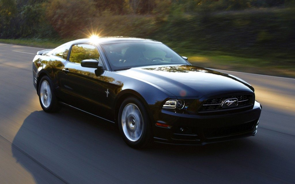 ford mustang black car