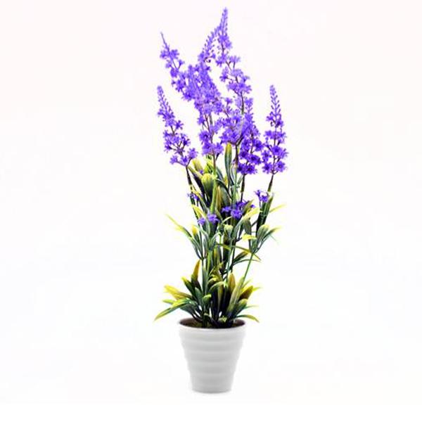 flor lavanda plastico