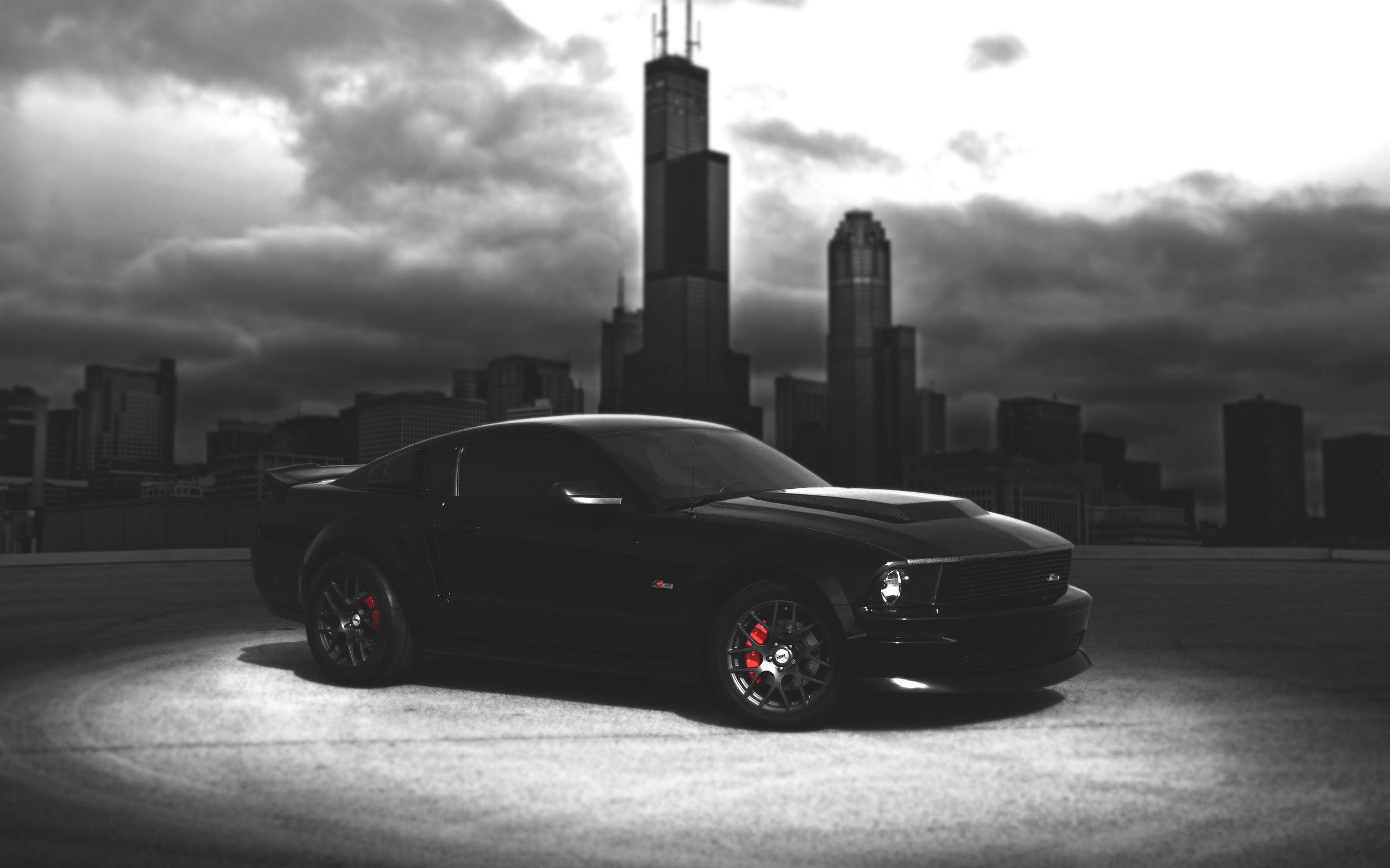 Ford Mustang Black Car Fondos Fondos De Pantalla
