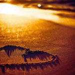 Sunset, Sand, Love, Hearts