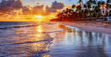 fondos de pantalla atardecer en la playa