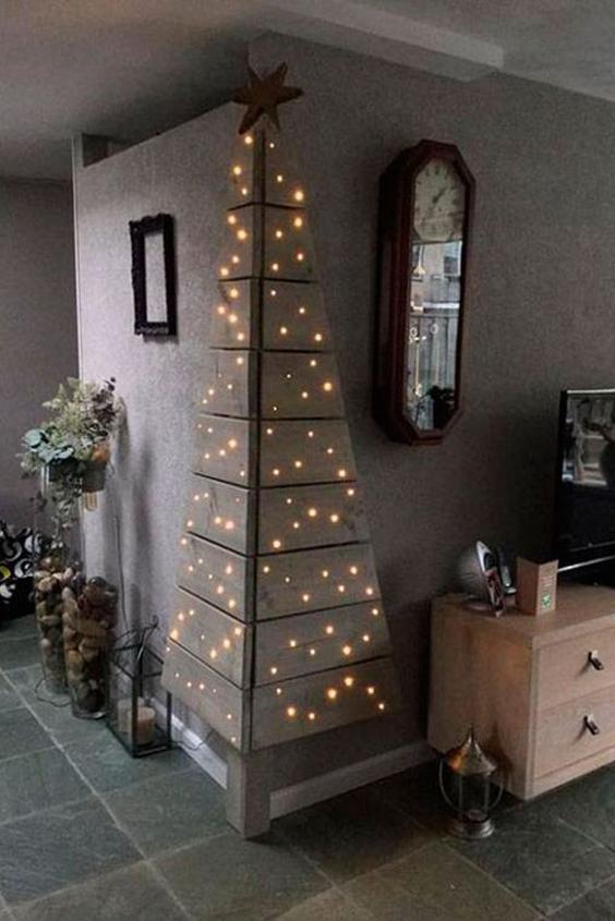 arboles navideños de pared amazon