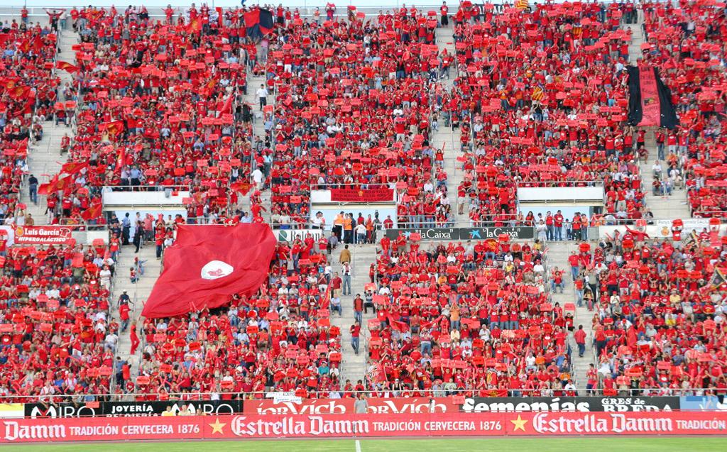 La afición en el estadio
