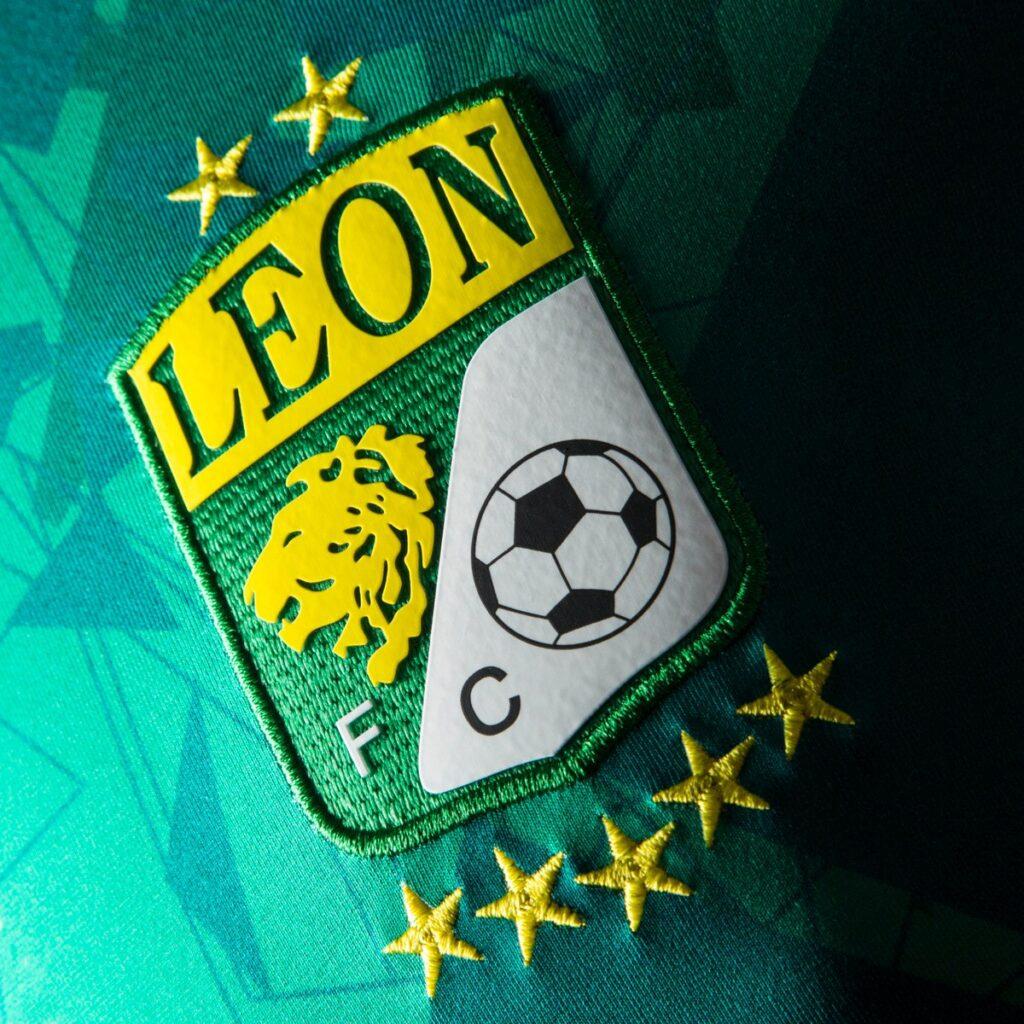 León escudo de fondo