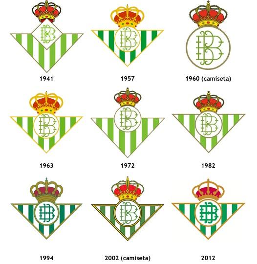 Todos los escudos del Betis
