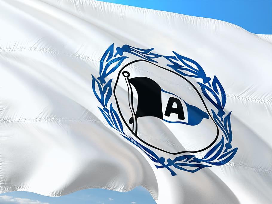 Logo en bandera