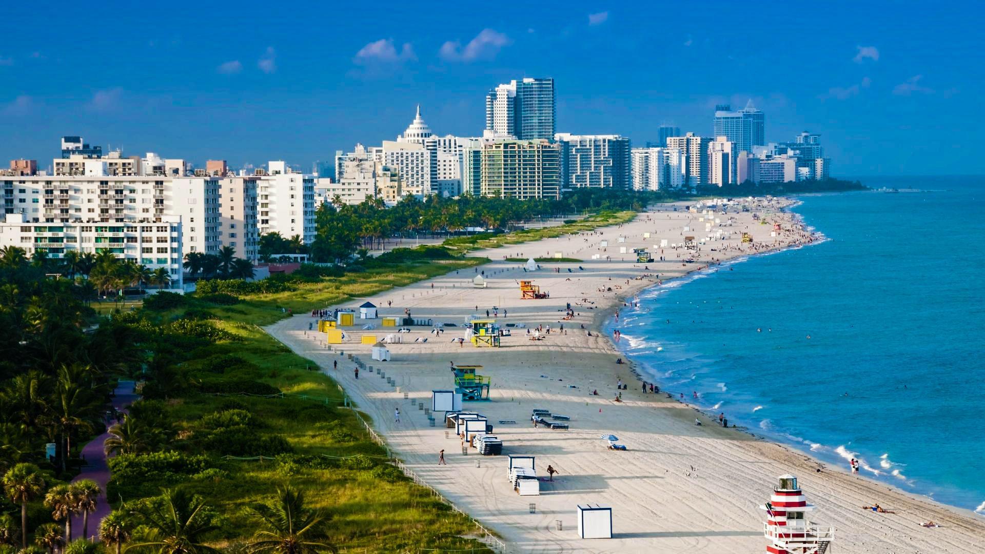 Disfruta las playas en Miami