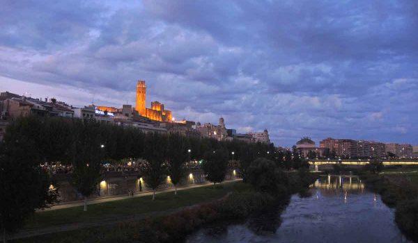 Anochecer en Lleida