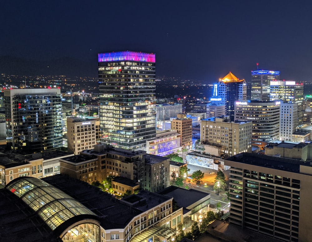 Salt Lake City de noche