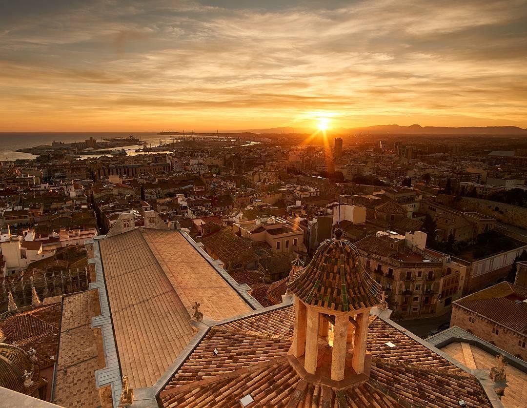 Tarragona atardecer
