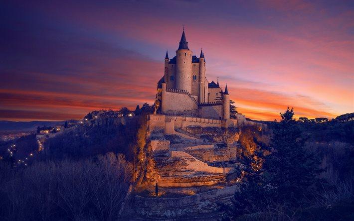 Castillo de fondo